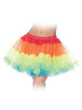 Sexy Rainbow Layered Petticoat Tutu Sexy Women's Skirt