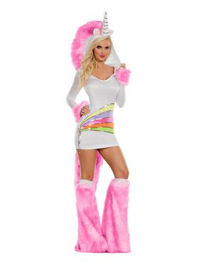 Sexy Rainbow Unicorn Adult Costume