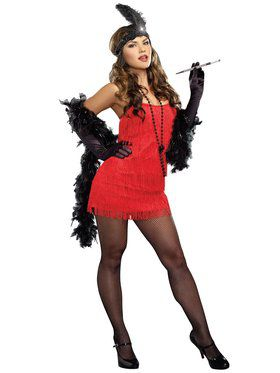 Sexy Red Flapper Women's Costume