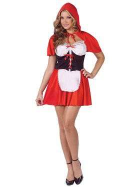 Sexy Red Hot Little Red Riding Hood Adult Costume