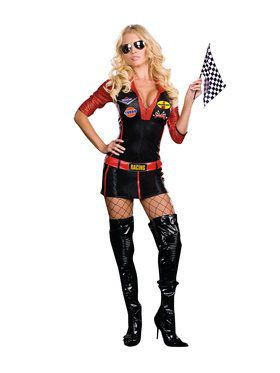 Sexy Ride It Race Car Girl Adult Costume