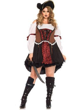 Sexy Ruthless Pirate Wench Plus Women's Costume