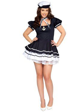 Sexy Sailor Sweetie Adult Plus Costume