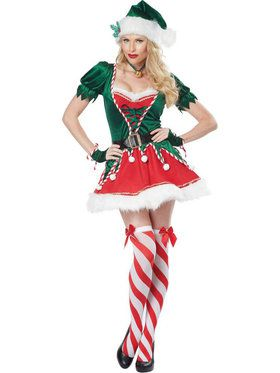 Sexy Santa's Helper Sexy Elf Women's Costume