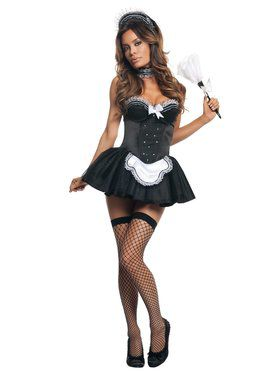 Sexy Seductive French Maid Adult Costume