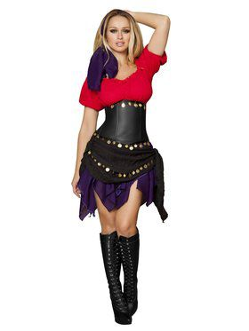 Sexy Seductive Gypsy Adult Costume