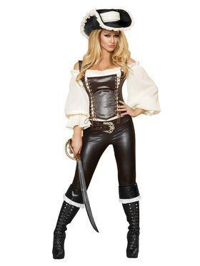 Sexy Seductive Pirate Wench Deluxe Adult Costume