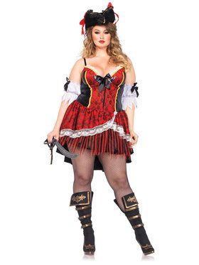Sexy Shaper Pirate Plus Women's Costume