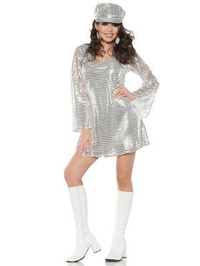 Sexy Shimmer Sequin Mini Dress Women's Costume