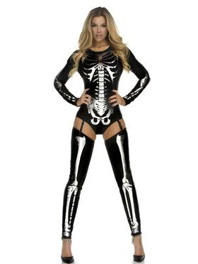 Sexy Snazzy Skeleton Women's Costume