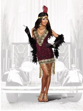 Sexy Sophisticated Lady Flapper Women's Costume