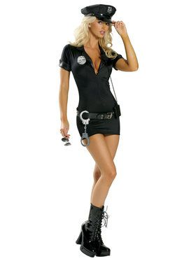 Sexy Stop Traffic Cop Women's Costume