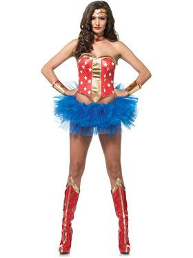 Sexy Super Hero Kit Women's Costume