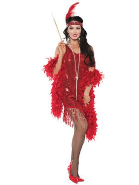 Sexy Swingin Red Flapper Women's Costume
