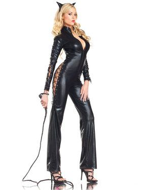 Sexy Two-Faced Kitty Catsuit Women's Costume