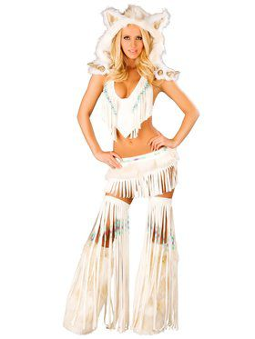 Sexy White Indian Adult Costume