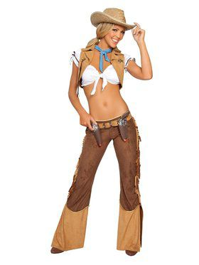 Sexy Wild West Cowgirl Sheriff Adult Costume