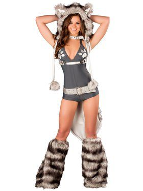 Sexy Wolf Romper Adult Costume