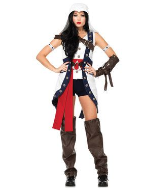 Sexy Women's Assassin's Creed Connor Girl Costume