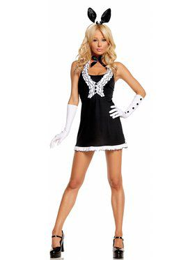 Sexy Women's Black Tie Bunny Costume