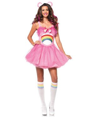 Sexy Women's Care Bears Cheer Bear Costume