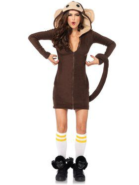 Sexy Women's Cozy Monkey Costume