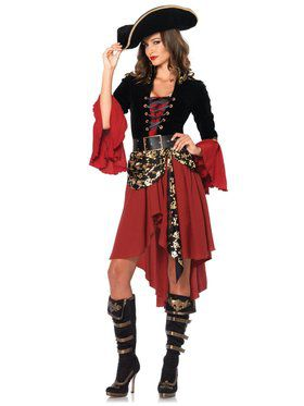 Sexy Women's Cruel Seas Captain Costume