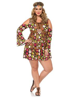 Sexy Women's Curvy Starflower Hippie Dress