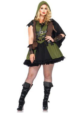 Sexy Women's Darling Robin Hood Plus Size Costume