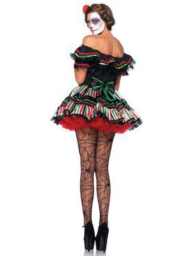 Sexy Women's Day of the Dead Doll Costume