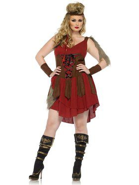 Sexy Women's Deadly Huntress Plus Size Costume