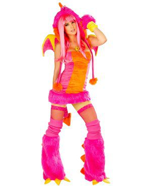Sexy Women's Deluxe Drag the Dragon Dress Costume
