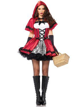 Sexy Womens Gothic Red Riding Hood Costume