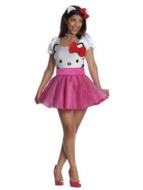 Sexy Womens Hello Kitty Tutu Dress Costume