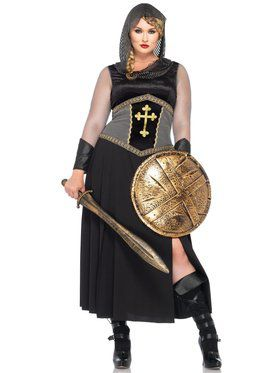 Sexy Women's Joan of Arc Plus Size Costume