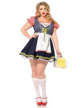 Sexy Women's Oktoberfest Inga Beer Girl Plus Size Costume
