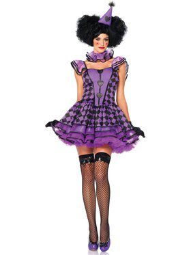 Sexy Women's Pretty Parisian Clown Costume