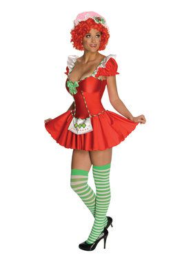 Sexy Womens Strawberry Shortcake Costume for Halloween