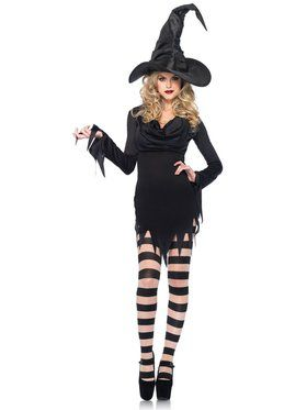 Sexy Women's Tattered Witch Dress Costume