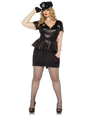 Sexy Women's Traffic Stop Cop Plus Size Costume