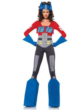 Sexy Women's Transformers Optimus Prime Costume