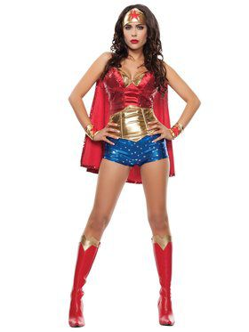 Wonder Lady Adult Costume XL for Halloween