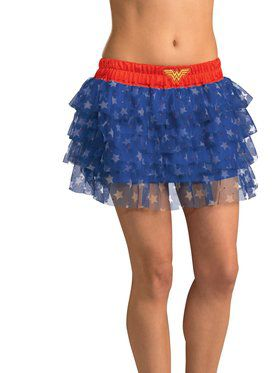 Sexy Wonder Woman Sequin Skirt Womens Costume