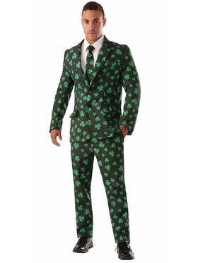 Shamrock Suit and Tie Adult Costume