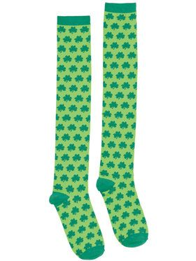 Adult Knee-High Shamrocks Socks