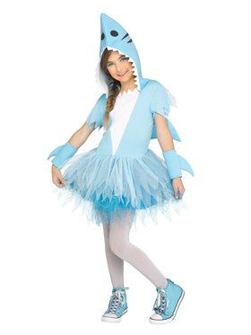 Girls Shark Tutu Costume
