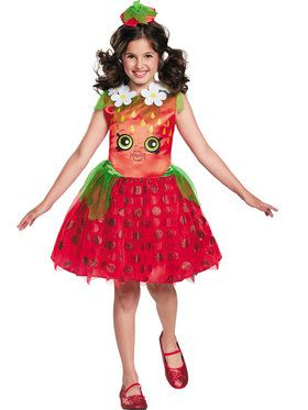 Shopkins Girls Strawberry Kiss Costume