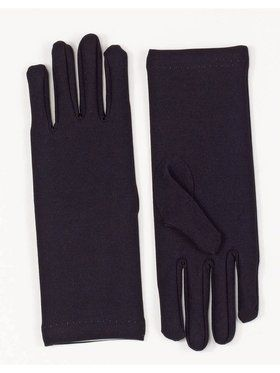 Short Dress Gloves Black Adult