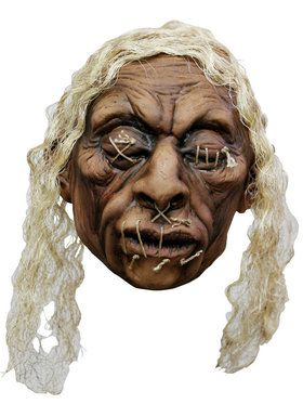Shrunken Head Halloween Hanging Prop