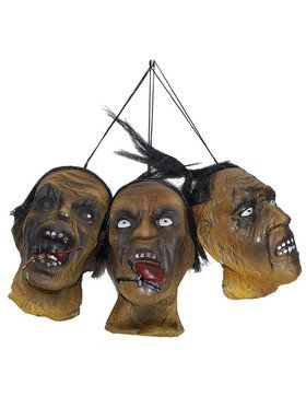 Shrunken Head Decoration Set
